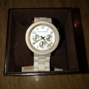 Michael Kors White silicone watch